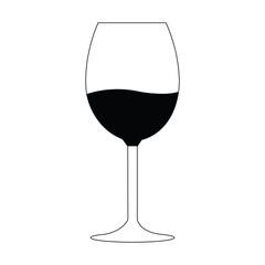 Silhouette of a wine glass. vector illustration design
