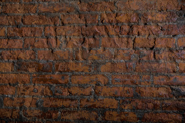 old brick wall background light ancient broken aged pattern