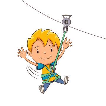 Kid ziplining tour