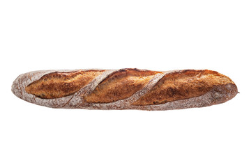 Baguette. Freshly backed bread isolated on white background