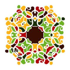 Ornamental round lace pattern. Kaleidoscopic floral mandala