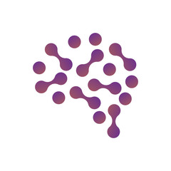WebBrain Logo silhouette design vector template. Think idea concept. Brainstorm power thinking brain Logotype icon Logo.