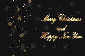 Merry Christmas text design background alphabet banner template for greeting cards.