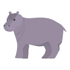 Behemoth or hippopotamus from africa. Wild hippo