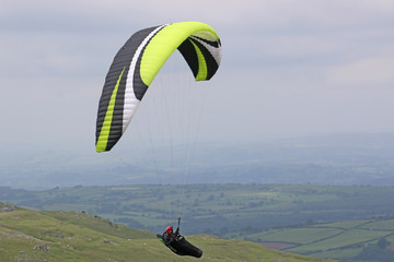 Wall Mural - Paraglider in the Brecon Beacons. Wales