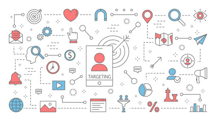Targeting concept. Idea of business marketing strategy