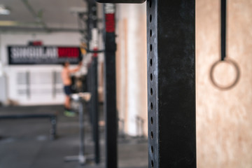 Crossfit Gym with weights and exercise equipment.