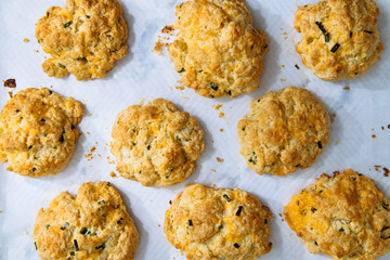 Cheesy Savory Scones with Chives