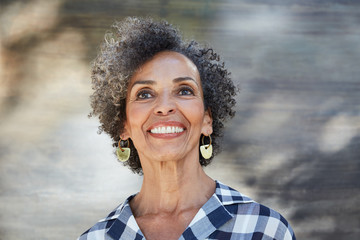 Closeup portrait of African American Senior woman