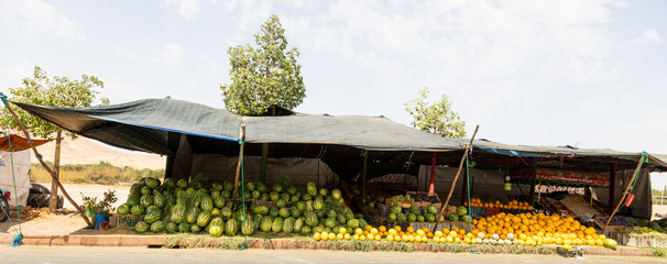 Marketplace filled with fruit