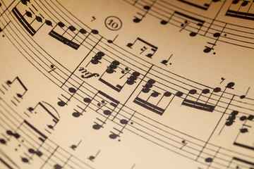 Music Sheet Close Up