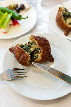 A savory pastry filled with vegetables