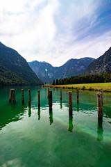 Königssee, Deutschland, Ausflug. Landschaft, Alpen