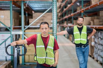 Warehouse worker portrait.