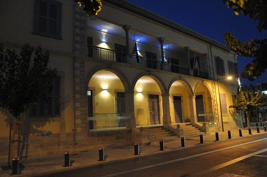 The beautiful night Cyprus University of Technology (tepak) Limassol in Cyprus