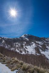 Winter landscape  in Lovcen National Park