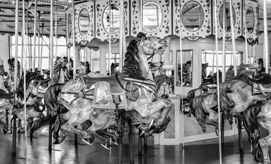 Vintage carousel merry-go-round