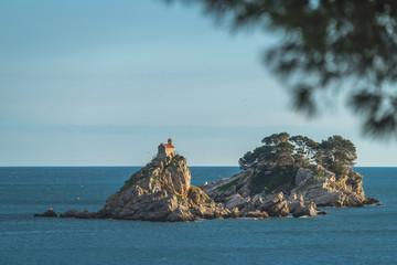 Monastery on the rock in Petrovac