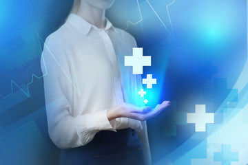 The concept of business, technology, the Internet and the network. Medical examination.