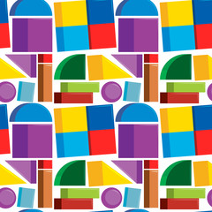 Seamless pattern colorful shapes