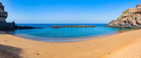 Stunning panorama of abama beach.Tenerife. Canary Islands..Spain
