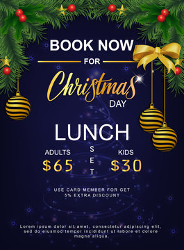 lunch set menu for christmas day