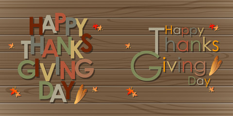 Abstract of Happy Thanksgiving Day. Background and Template. Vetor and Illustration, EPS 10.