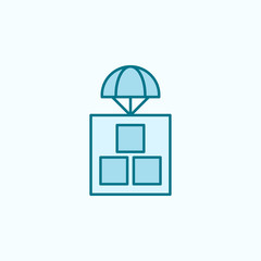 parachuting  field outline icon