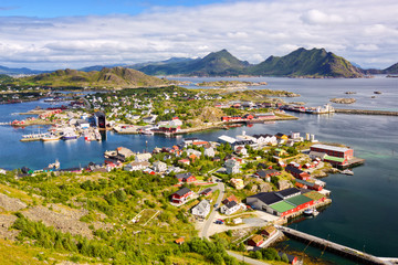 Fotomurales - Fishing village Ballstad in Lofoten Islands, Norway