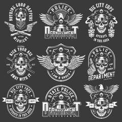 Vintage policeman logos collection