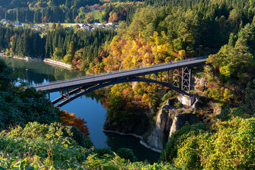 福島の絶景秋の只見線