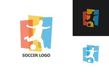 Soccer Logo Template Design Vector, Emblem, Design Concept, Creative Symbol, Icon