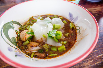 Thai noodle in dish