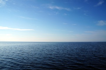 The Ladoga lake at evening