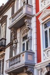 Las-Palmas de Gran Canaria, Spain, on January 6, 2018. Typical city architecture, facade fragment.