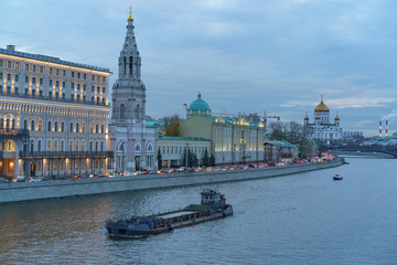 Cloudy autumn at the Moscow city center