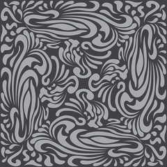 Abstract Pattern in Oriental Style Memorable pattern from flowing lines The unusual idea of packaging, tiles, wallpaper, textiles Handmade. Ethnic Simplis Pattern