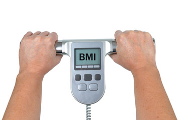 Measuring Body Mass Index with Scale.