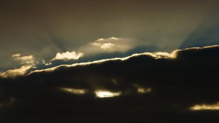 Time-lapse of moody cloud formation over Budj Bim, Lake Condah, Australia.