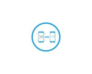 Hand Phone Logo design icon