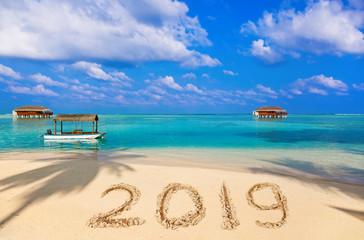 Numbers 2019 on beach