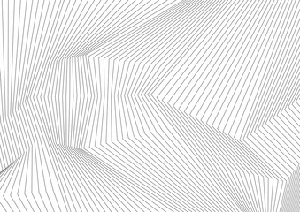 Abstract grey 3d lines refraction minimal background