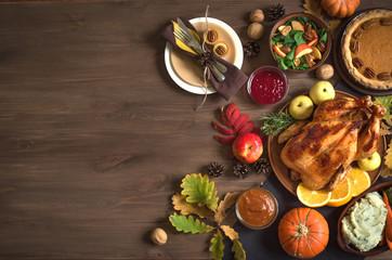 Thanksgiving Turkey dinner background