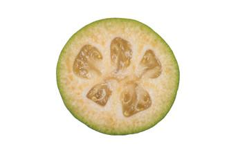 フェイジョア果実の切り口