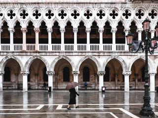 Regnerischer Morgen in Venedig