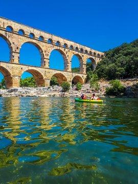 Pont du Gard, Occitanie, France.