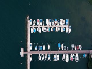 Boote von oben