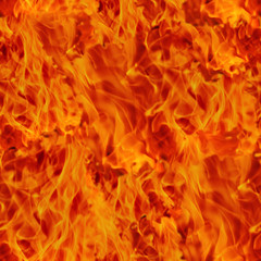 Seamless texture tile of fire