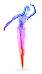 Woman dancer, ballerina, elegant silhouette