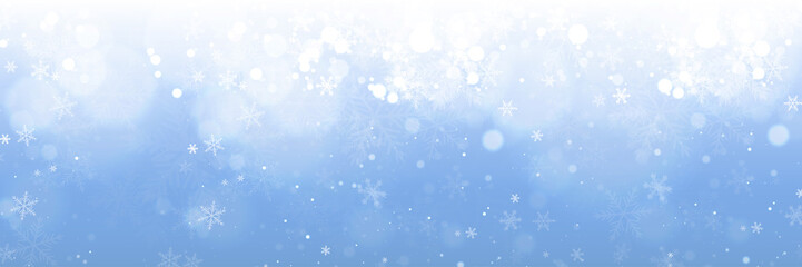 Christmas Banner Background with Snowflakes